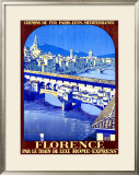 Florence Framed Giclee Print by Roger Broders