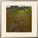 Field of Poppies Prints by Gustav Klimt
