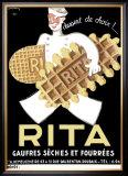 Belgium Rita Waffle Bisquit Framed Giclee Print