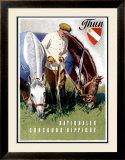 Thun, Nationaler Concours Hippique Framed Giclee Print by Iwan E. Hugentobler