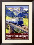 Montreux Oberland Framed Giclee Print by  Elzingre