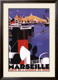 Marseilles, Porte de l'Afrique du Nord Art by Roger Broders