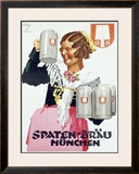 Spaten Brau Framed Giclee Print by Ludwig Hohlwein