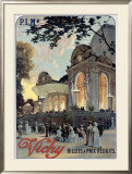 Vichy Framed Giclee Print by Louis Tauzin