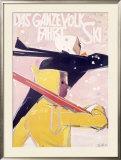 Ganzevolk Snow Ski Resort Framed Giclee Print