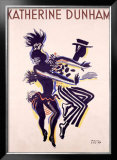 Katherine Dunham Framed Giclee Print by Paul Colin