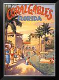 Visit Coral Gables, Florida Print by Kerne Erickson