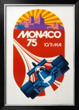 Monaco Grand Prix, 1975 Print by Geo Ham
