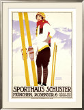 Sporthaus Schuster Framed Giclee Print by Johann B. Maier