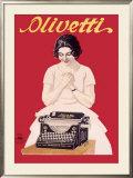 Olivetti Office Typewriter Framed Giclee Print