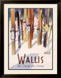 Wallis Winter, Snow and Ski Framed Giclee Print