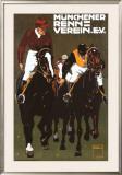 Munchener Renn Verein Framed Giclee Print by Ludwig Hohlwein
