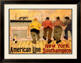 American Line, New York to Southampton Framed Giclee Print by Henri Cassiers
