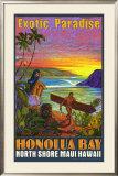 Hawaii, Honolua Bay, Maui Framed Giclee Print by Rick Sharp
