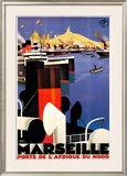Marseille Prints by Roger Broders