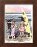 Surf Keikis Prints by  Himani