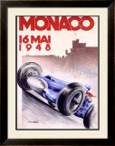 Monaco Grand Prix, 1948 Framed Giclee Print by Georges Mattei