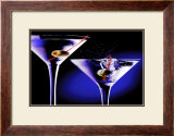 Martinis with Olives Poster by Tom Petroff