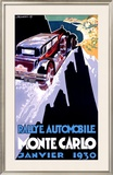 Rallye Monte Carlo, 1930 Framed Giclee Print by Robert Falcucci