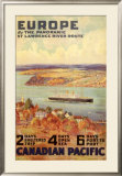 Europe by the Panoramic Saint-Lawrence River Route Posters