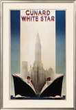 Cunard Poster by A. Roquin