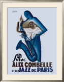 Alix Combelle, Jazz Paris Framed Giclee Print by Paul Colin
