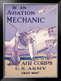 WWII, AAF Army Air Corps Aviation Mechanic Framed Giclee Print