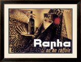 Rapha on en Raffole Framed Giclee Print by Charles Loupot
