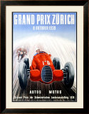 Grand Prix Zurich, 1939 Framed Giclee Print by Adolf Schnider
