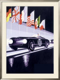 Panhard Automobile le Mans Racing Framed Giclee Print