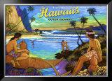 Hawaii, Holo Holo, Outer Island Framed Giclee Print by Rick Sharp