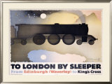 To London by Sleeper Framed Giclee Print by Alexander Alexeieff