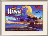Fly to Hawaii Clipper Airline Framed Giclee Print by Rick Sharp