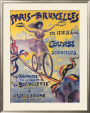 Paris-Bruxelles, Course d'Amateurs Framed Giclee Print by  PAL (Jean de Paleologue)