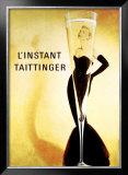 El momento Taittinger, en francés Lámina giclée enmarcada