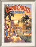Visit Coral Gables, Florida Poster by Kerne Erickson