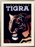 Cigarettes Tigra Framed Giclee Print by Paul Colin