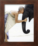 Nose to Nose, Thailand Print by David Trood