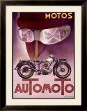 Automoto Framed Giclee Print by Max Ponty