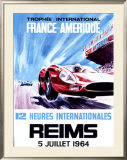 12 Heures Internationale, Reims, 1964 Framed Giclee Print by James Blank