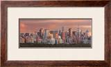 Sunset over New York Skyline Print by Hank Gans