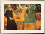 The Music Print by Gustav Klimt