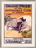 Automobile Club of America, Savannah Race Framed Giclee Print by Malcolm A. Strauss