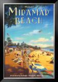 Miramar Beach, Montecitos Print by Kerne Erickson
