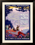 La Route des Alpes Framed Giclee Print by Roger Broders