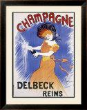 Champagne Delbeck Reims Framed Giclee Print by Leonetto Cappiello