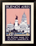 Royal Mail Line, Buenos Aires Framed Giclee Print by Kenneth Shoesmith