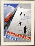 Parsenn Bahn Framed Giclee Print