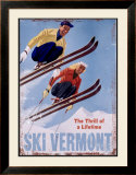 Ski Vermont, The Thrill of a Lifetime Framed Giclee Print