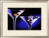 Martinis with Olives Print by Tom Petroff